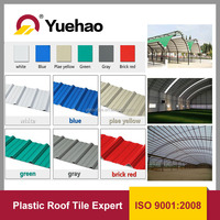 Roof Materials PVC corrugated roof sheet,heat insulation roof tile