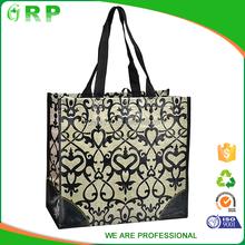 OEM promotional laminated foldable shopping bag with logo print
