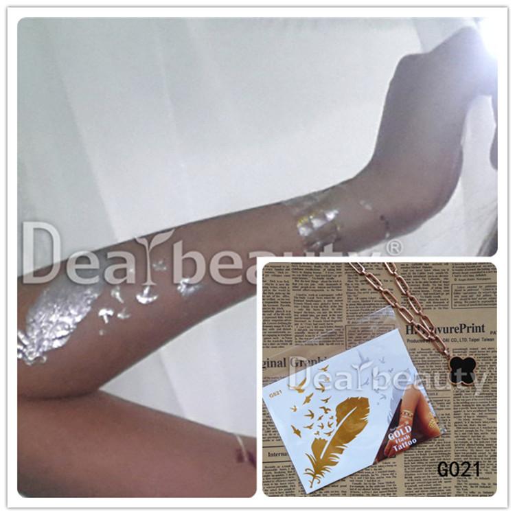 2015 dearbeauty tempor re farbe metallischen k rper tattoo indische henna gold tattoo aufkleber. Black Bedroom Furniture Sets. Home Design Ideas