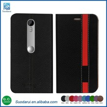 New Fancy Wallet Case For Moto G 3rd gen XT1064 Assorted Colors PU Leather Case Cover