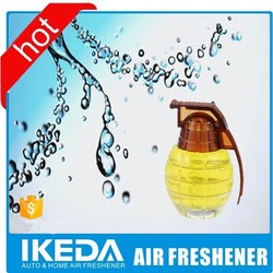 Grenade shape perfume adore perfume bottle with rose top