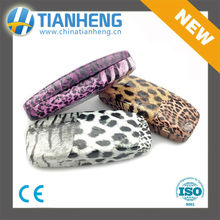 leopard leather glasses box spectacles case purple high quality new fashion