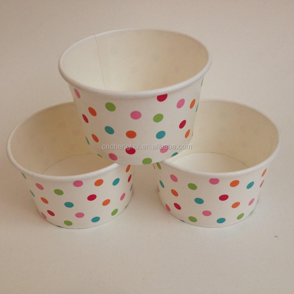 4oz Custom printed disposable paper ice cream cup
