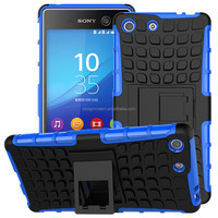 Hard Armor Kickstand Stand Hybrid Combo Case For Sony Xperia M5