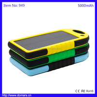 Best Selling Products 5000mAh Waterproof Solar Power Bank Portable Cell Phone Accessories
