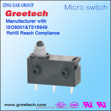 Miniature limit metal mechanical push button micro slide switch