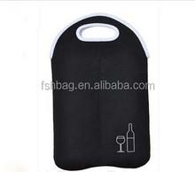 Durable Divided 2-Bottle Carrier Tote Neoprene Wine Bag