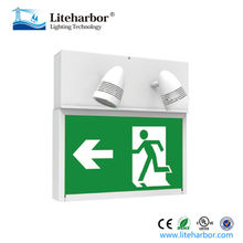 UL Running Man Exit Sign 2 Lamps * 3W LED Twin Spot Emergency Light
