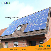 factory sell Poly cystalline solar panel from 10W to 300W solar module ,solar cell,solar home system
