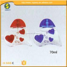 First Choice Good Reputation fashion heart shaped glass bottle