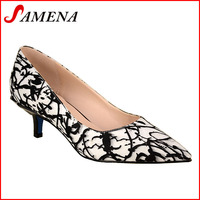 Ladies low heel shoes new design woman working shoes