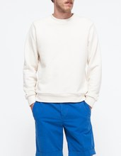 crew neck 100 cotton jumper plain white sweatshirt
