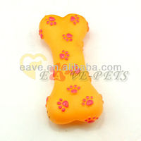 H1020 Pet small dog toy with sound bones footprints small rubber toys molar biting bite resistant