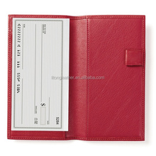 Deluxe leather checkbook cover,checkbook cover with divider,checkbook cover