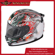 2015 Promotion dual visor DOT carbon fiber skull pattern motorcycle helmet safety double lens racing moto helmet
