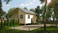 Econova Prefabricated Sandwich Panel Residential House with solar system