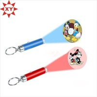 Newest Style led projector keychain torch LED keychain toy for kids