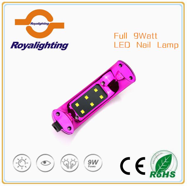 Moda durable LED uv prego lâmpada 9 watt mini íris lâmpada uv