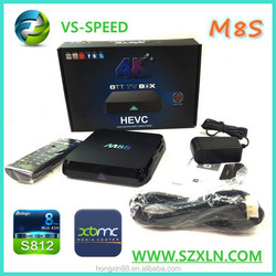 shenzhen co ltd M8S Amlogic S812 bulk buy OTT tv box android box for tv