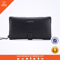2015 Wholesale Genuine Leather Design Large Men's Pouch and Wallet