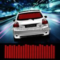 Rojo 90*25cm etiqueta engomada del coche el ritmo de la música flash led de la lámpara ecualizador de sonido activado