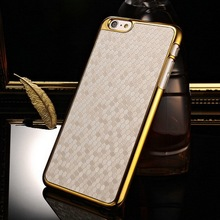 PC Plus Golden Frame High Quality Custom Cover Case for iphone 6 Plus