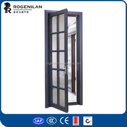 ROGENILAN german interior doors obscure glass black frame shower doors