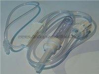 IV set with flow regulator