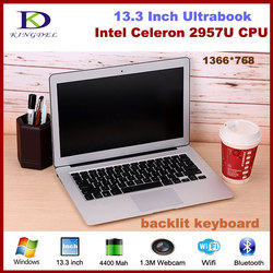 Newest Celeron 2957U CPU 13.3 Inch Ultrabook Laptop Computer 4GB RAM 128GB SSD Webcam Wifi Bluetooth