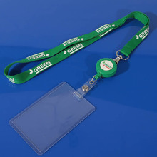 Clear soft plastic id card holders with lanyard
