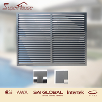 New design luxury exterior decorative glass wall window shutters with AS2047