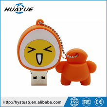 The Top Selling Products 2015 USB 2.0 Cartoon Shaped Silicone Wristband USB Flash Memory with Different Expressions
