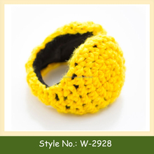 W-2928 winter knit earmuffs handmade crochet ear cover knitted ear muff warmer