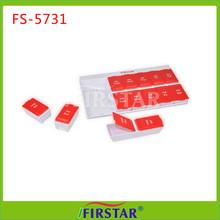 Medical Plastic fancy 7 day plastic pill box tablet box