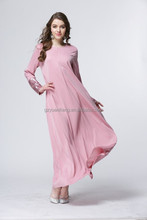 wholesale 2015 fashion chiffon moroccan kaftan beaded long sleeve muslim evening dress cheap abaya embroidery