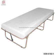 Trade Assurance Single Size Metal Frame Hotel Rollaway Folding Guest Bed