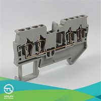 Delphi PA66 CE ROHS VDE 5.2mm Thickness 72mm Width Four-lead Through-type Wiring Terminal Block