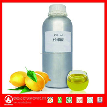 Citral 95% clarifies the liquid faint yellow, Flavoring agent, used for preparation of Lemon essence