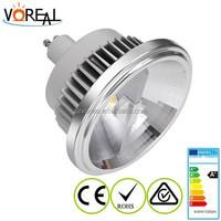 high lumens 12W 15W LED G53 GU10 EXTERNAL DRIVER DIMMABLE ANTI-GLARE AR111