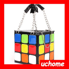 UCHOME Lady Girlish Magic Cube Bag/Tote/Handbag Women's Hot Cute Magic Cube Bag Purse Korean Fashion handbag
