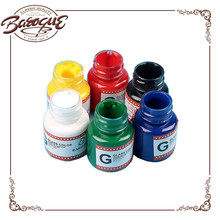 Supply 25ml 6 Tubes With One Hair Nylon Brush Acrylic Glass Paint Colors Set For Student Painting Colors Pigments