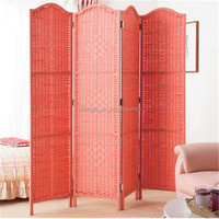 Indoor Gift Wooden Folding Movable French Style Hanging Room Divider Screen