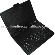 """Leather Case Cover With keyboard for Tablet pc (10"""")"""