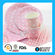 Factory Stock 60 Items Party Wedding Decoration Paper Plates