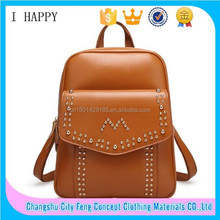 2015 wholesale factory prices fashion Colorful leather satchel Platinum package