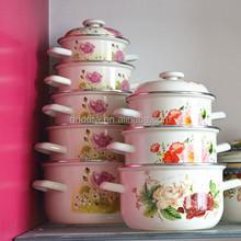 white enamel cookware,baked enamel cookware,german enamel cookware