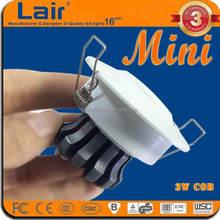 AC85-265V CRI Ra>80 small ceiling recessed 3W cob single mini led light