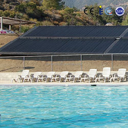 Highly efficiency plastic solar pool heater collectors