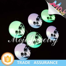 UV Digital Printed Tropical Sea View Glow In The Dark Charm Fashion Wholesale Jewelry