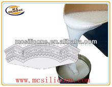 decoración de hormigón cornisa de yeso de fundición de silicona